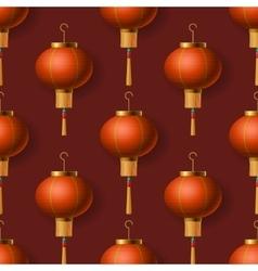 Chinese New Year lanterns seamless pattern vector image
