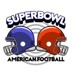 super bowl helmet badge vector image