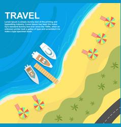 top view of seashore with umbrellas vector image