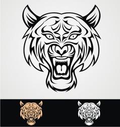 Tribal Tiger Head vector image vector image