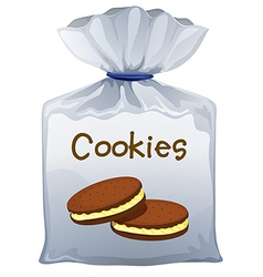 A pouch bag of cookies vector image vector image