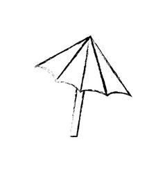 figure nice umbrella open to protect of sun vector image vector image