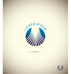 Logo circle technology icon design set from vector image
