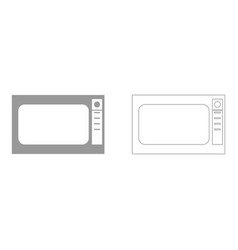 microwave oven set icon vector image
