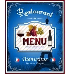 Vintage french restaurant menu and poster design vector image vector image