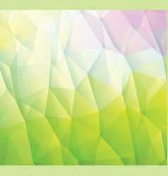 abstract green background made from triangles vector image vector image