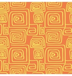 Abstract square pattern spiral vector image vector image