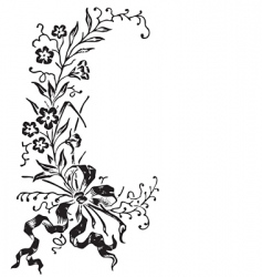 antique flowers border engraving vector image