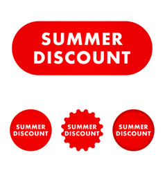 discount red button vector image