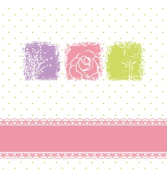 Greeting card with rose flower vector image vector image