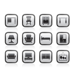 Home Equipment and Furniture icons vector image vector image