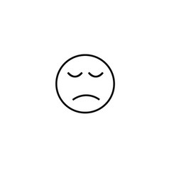 sadeness emotion icon vector image vector image