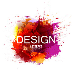 Abstract background colorful watercolor vector