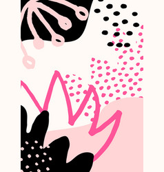 Abstract collage design vector