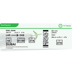 airplane boarding pass airline ticket vector image