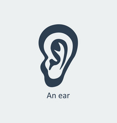 An ear icon vector