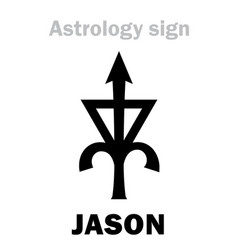 Astrology asteroid jason vector