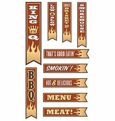 Barbecue Banners vector
