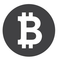 bitcoin coin flat icon symbol vector image