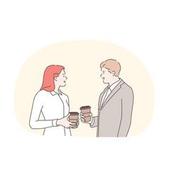 Business break communication conversation vector