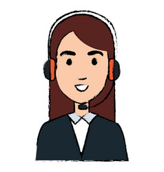 call center agent avatar character vector image
