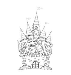 Castle outline vector