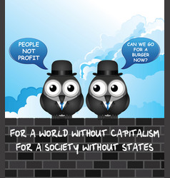 comical capitalism vector image