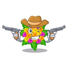 Cowboy lantana flowers in the mascot pots vector