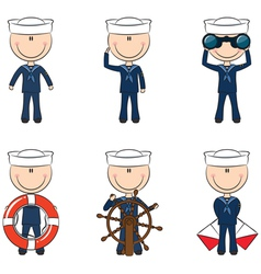 Cute seamen vector image