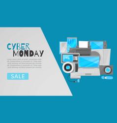 cyber monday big sale web template vector image
