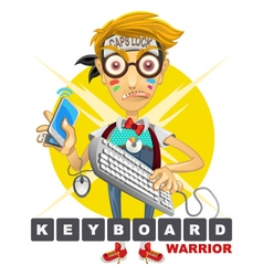 Cyberbully Nerd Geek Keyboard Warrior vector