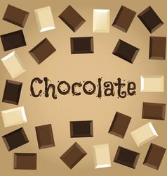 dark white and milk chocolate vector image
