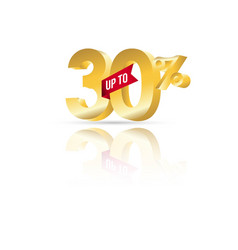 Discount up to 30 template design vector
