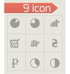 economic icons set vector image