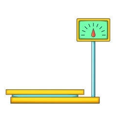 Electronic market scale icon cartoon style vector