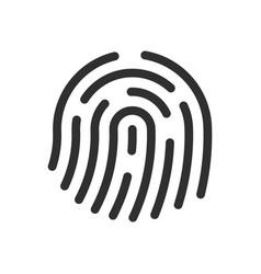fingerprint icon sign shape vector image