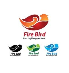 fire bird logo design bird icon vector image