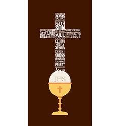 First communion design vector