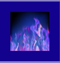 Gas burning fire with flying embers on blurred vector