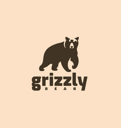 Grizzly bear logo vector