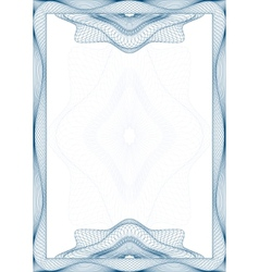 Guilloche frame vector