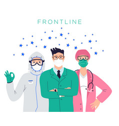 Healthcare professionals group doctors nurses vector