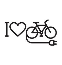 I love my e-bike vector