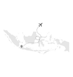 indonesia maps with airplanes images vector image