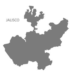 Jalisco mexico map grey vector
