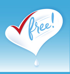 Lactose free natural fresh milk splash logo heart vector