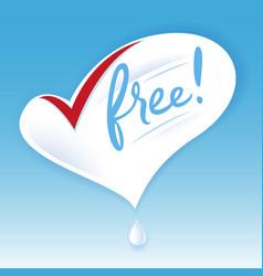 Lactose free natural fresh milk splash logo heart vector