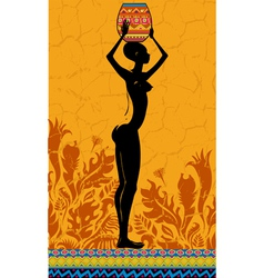 Lady Africa vector image