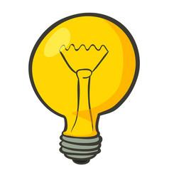 Lamp icon cartoon style vector