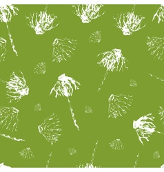 Leavesflowers hand drawn grunge background vector image